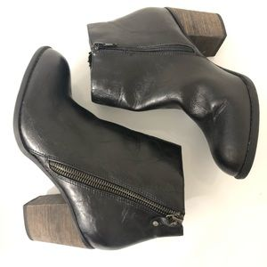 Black Boots Ankle Chunky 3 inch heel Size 9